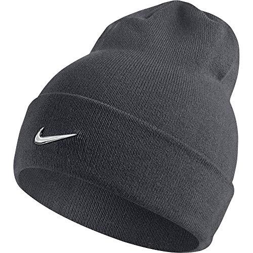 Nike Swoosh Mütze, Dark Grey/Metallic Silver, One Size