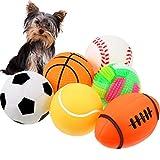 Gejoy 6 Stücke Haustier Spielzeug Ball Quietschend Licht Bälle Ungiftig Kauen Prallen Spielzeug Bälle für Hündchen Klein Medium Hunde Haustier
