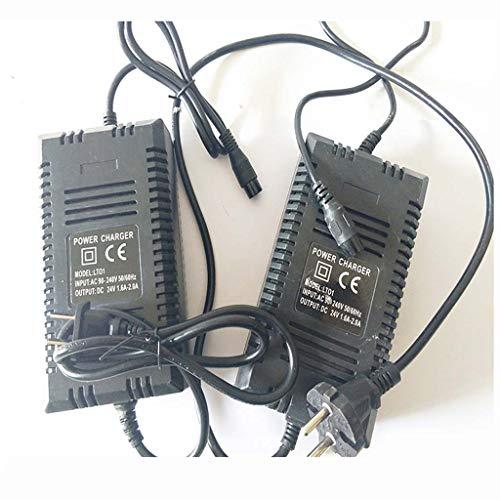 Y&XF Cargador De Batería De 24V 1.6-2.0A, Cargador para Patinete Eléctrico