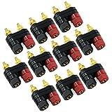 KEESIN 10 paia Terminale Binding Morsetto Nero e Rosso Amplificatore di potenza a doppio jack a banana a 2 vie (tipo B)