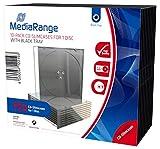 MediaRange BOX32 funda para discos ópticos Funda de DVD 1 discos Negro, Transparente - Fundas para discos ópticos (Funda de DVD, 1 discos, Negro, Transparente, De plástico, 120 mm, 140 mm)