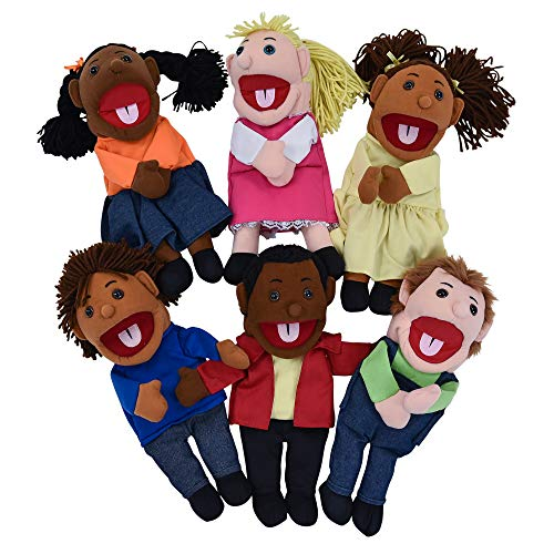 Children's Factory - CF100-896 15' Ethnic Children Puppets with Movable Mouths, Kids/Toddlers Hand...