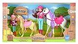 Toi-Toys 06578A HORSES - Ensemble de poupées avec chevaux, ensemble de poupées d'équitation, poupée et cheval