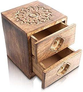 Great Birthday Gifts Handmade Decorative Wooden Jewelry Box Organizer Cabinet Drawer Keepsake Box Treasure Chest Trinket H...