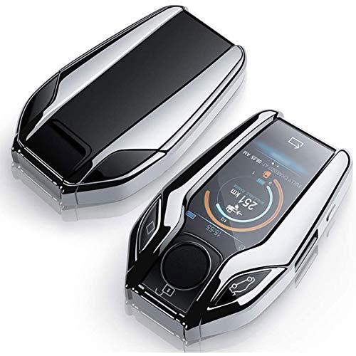 Autoschlüssel Abdeckung für BMW, weiches TPU-Silikon Autoschlüsselhülle für BMW, für BMW 5er-Serie (2018) 528Li 530Li 540Li,BMW 2016 2017 2018 7er Serie G11 G12 Smart Display LCD Fernbedienung