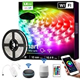 LE LED Strip Lights, WiFi Smart Color Changing LED Strips, Works wiith Alexa Google Home, 16.4ft, SMD 5050 LED Rope Light, App&Remote Controlled, Tape Light for Bedroom, Home and Kitchen