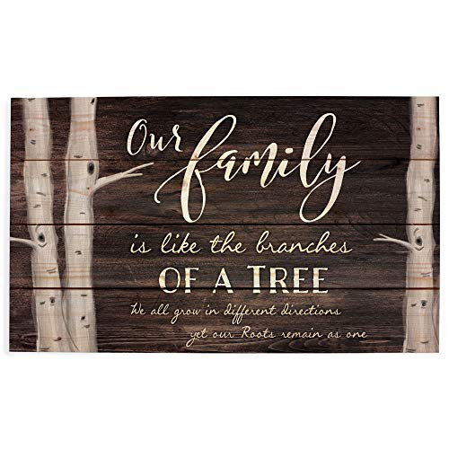 P. Graham Dunn Our Family Tree Dark Distressed 24 x 14 Inch Solid Pine Wood Pallet Wall Plaque Sign