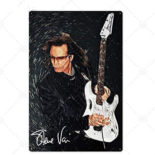 N/B Rock Roll Zinn Zeichen Vintage Metall Poster Plaque Metall Wanddekoration Wohnzimmer Man Cave Club dekorative Platte 7.87x11.8inch TH6134