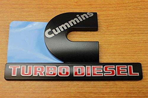 Dodge Ram 2500 3500 BLACK Cummins Turbo Diesel Decal Nameplate Emblem Mopar OEM