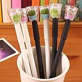 NJPOWER New Creative Cultivate Plant Gel Pen 0.5mm Black Ink Garden Grow Grass Pen Office Stationery Lovely Children Lovers Gift