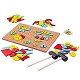 Bigjigs Toys Formes à Clouer | Jouet Traditionnel | Jeu Éducatif | Cadeau Enfant | Jouet Bébé | Jouet Enfant