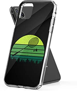 Case Phone Retro Badminton Racket Shuttlecock Funny Player (5.8-inch Diagonal Compatible with iPhone 11 Pro)