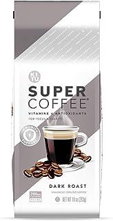 Sponsored Ad - Kitu Super Coffee Grounds, Energy & Immunity (2x Caffeine, Vitamins, Antioxidants, Organic) [Dark Roast] 10...