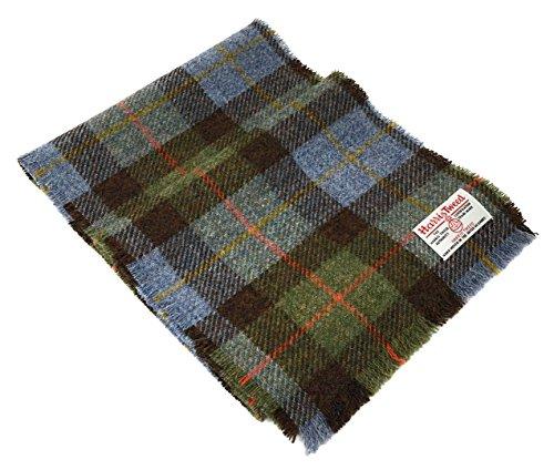 Harris Tweed MacLeod Blau Tartan Wolle Schal