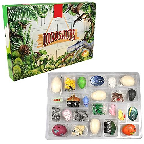 huiyingshe Calendario de adviento de Dinosaurio Navidad, Calendario de Cuenta Regresiva de 24 días para Juguetes para niños con 24 Piezas Sorpresa 2021