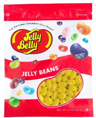 Jelly Belly Sunkist Lemon Jelly Beans - 1 Pound (16 Ounces) Resealable Bag - Genuine, Official, Straight from the Source