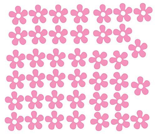 Vinyle Qualité Fleurs Autocollants Auto Moto Sccoter Casque Autocollant Graphique Filles - Rose Brillant