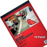 Flex 164570000 Buoni di Consegna Autoricalcanti in Duplice Copia - Blocchi Ricevute Generiche Moduli Trasporti e Ddt - Blocchetto Consegne in 2 Copie Blocchetti Formato 21x15 (10)