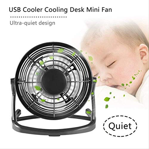 USB Gadget Portable USB Mini Fans Small Desk 4 Blades Cooler Cooling Fan DC 5V Operation Super Mute Silent PC Laptop Notebook
