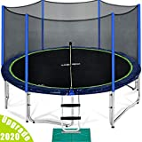 Zupapa 15 14 12 Ft TUV Approved Trampoline with Enclosure Net and Pole...