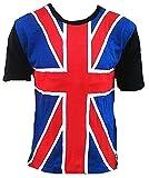 TICILA T-shirt pour homme Motif drapeau britannique et drapeau britannique GrossBritanien Scooter - Bleu - L