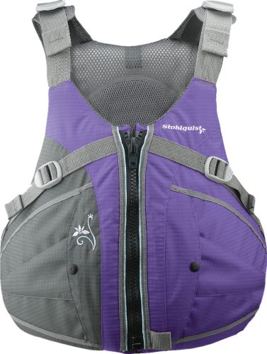 Stohlquist Women's Flo Life Jacket/Personal Floatation Device (Purple/Gray, Medium/Large)