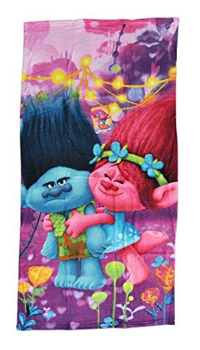 Halantex Sp Toalla Playa Trolls 1, 100% Poliester Microfibra, Color Uníco, 70 x 140 cm