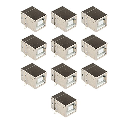10PCS Micro USB2.0Klinkenbuchse Stecker Typ B Buchse Port 4-Pin 90Grad PCB DIP