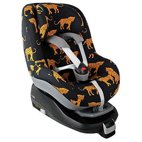 Maxi-Cosi Pearl Bezug Kindersitz von UKJE Auch für 2Way Pearl und Pearl Pro Schwarz Leoparden Schweißabsorbierend und weich für Ihr Kind Öko-Tex 100 Baumwolle Recycelbar