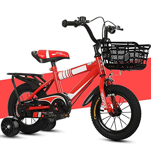 YCHBOS Bicicleta Infantil con Ruedines, Ligero Bicicletas para Niños Universal, Neumáticos de...