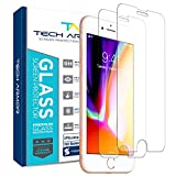 Tech Armor Ballistic Glass Screen Protector for Apple iPhone 6 Plus/6s Plus, iPhone 7 Plus, iPhone 8 Plus [2-Pack]
