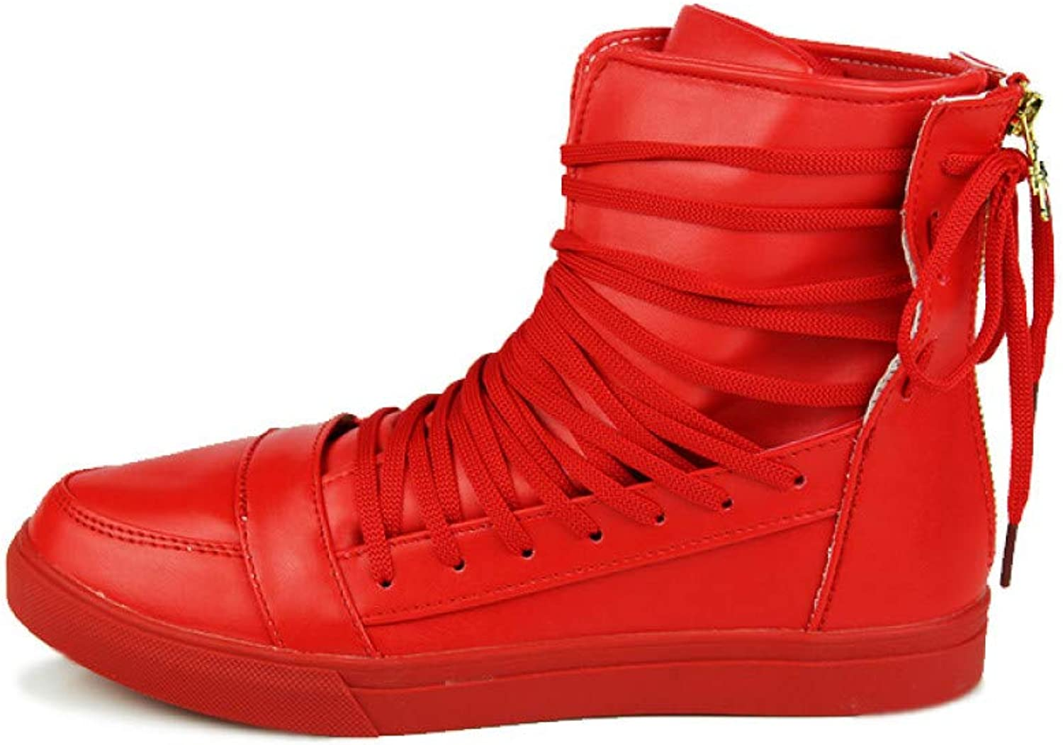 FHCGMX PU Leather Fashion Boots Male For Men shoes Adult Winter Warm Sneakers Quality Footwear