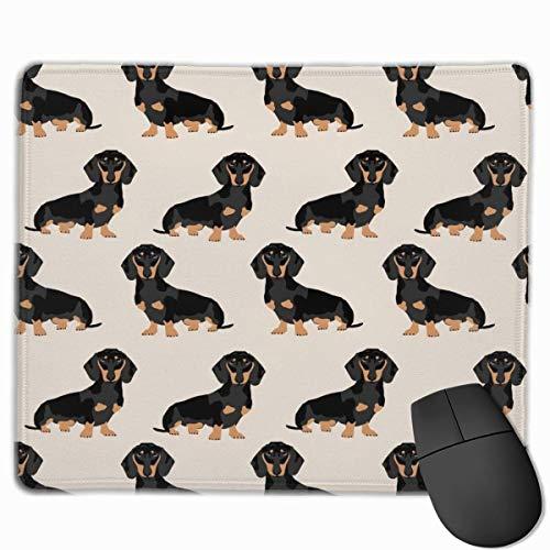 Dachshund Weiner Dog Pet Dogs Mini Alfombrilla de ratón para Juegos Control rápido y preciso para Juegos y Oficina (25 x 30 cm)