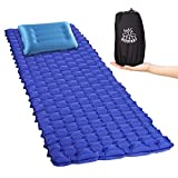 DEERFAMY Compact Sleeping Pads Camping Mats with Removable Pillows TPU Connectable Portable Lightweight Backpacking Large but for Backyard Hiking Travel Beach 1 Pack