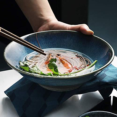 DJY-JY Vajilla de porcelana para ensalada de pasta, cuencos grandes de ramen/postre de 20 cm (color 6911900000)