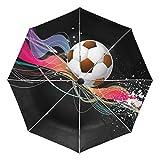 MALPLENA - Paraguas automático de futbolín de Colores para Hombre y Mujer, opción de Regalo, Unisex Adulto, MN-331, 9, Talla única