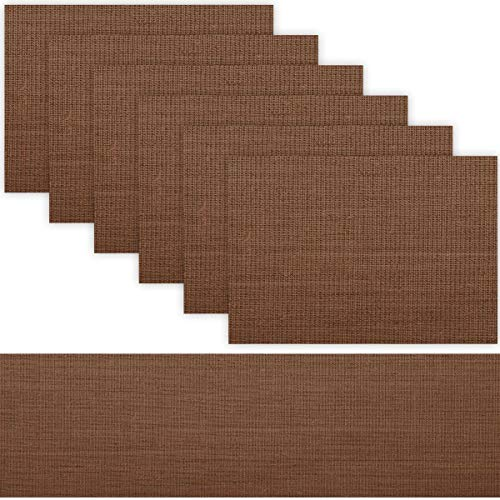 Trivetrunner: Decorative Modular Trivet Runner with 6 pcs Placemats Set Hot Pad, Heat-Resistant Surface,for Hot Plates, Pots, Dishes (Brown Set 1 Table Runner + 6 placemats)