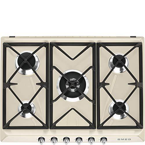 Smeg sr975pgh Platte–Platten (integriert, Gas, Cream, Gusseisen, drehbar, vor)