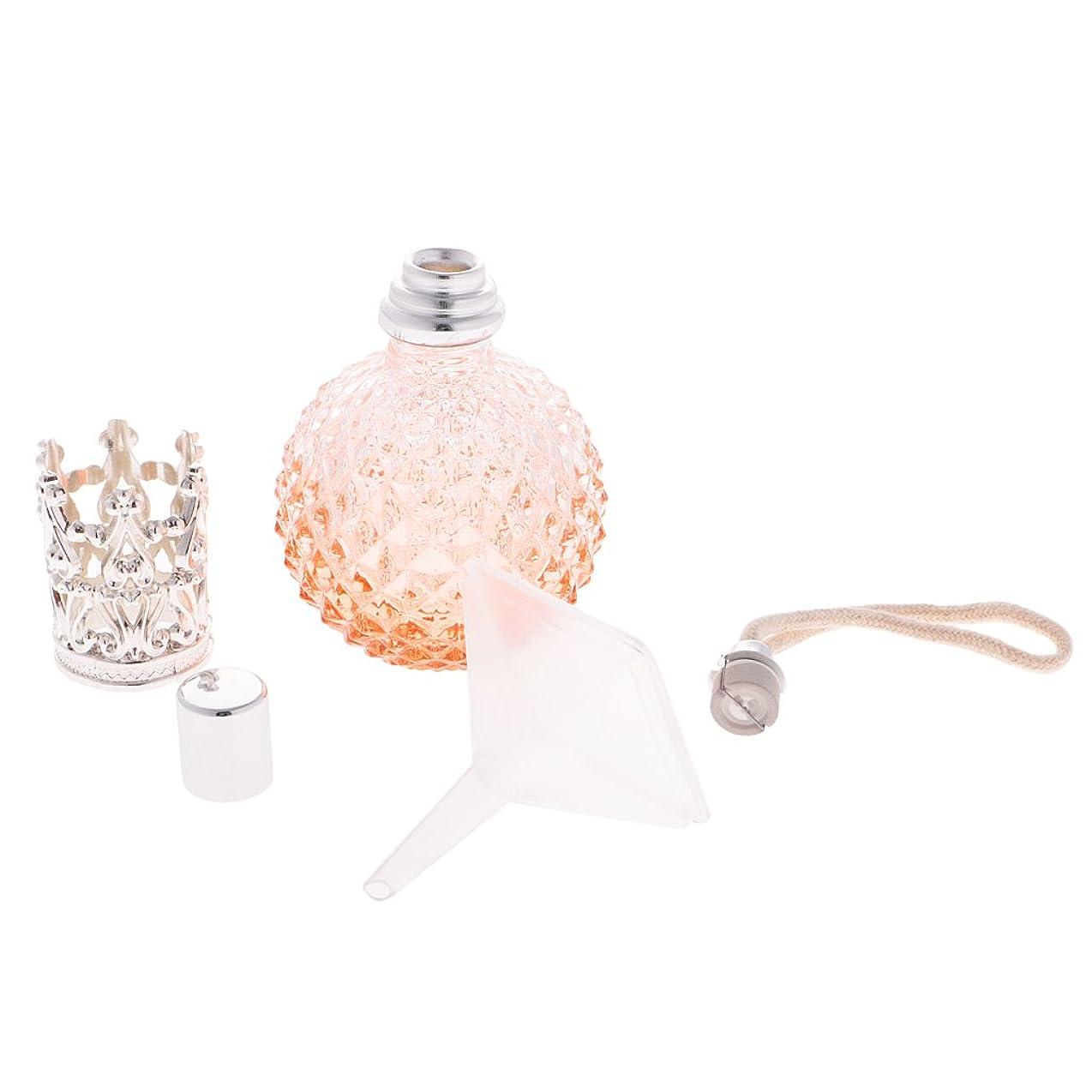 Baosity 全5色 香水瓶 ガラス製 100ml 詰め替え アトマイザー 再利用可能 - オレンジ