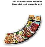 Tefal Gril viande et panini multifonction, 2000 W, Presse à paninis, Rangement Vertical, Plaques antiadhésives, Compact GC241D12