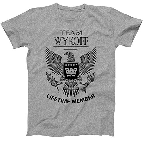 Lifetime Member of Team Wykoff Family Wykoff Surname T-Shirt Size Small Grey