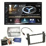 Kenwood DNX-5180DABS Navigation Naviceiver Bluetooth DAB+ Digitalradio Android Auto Smartphone CarPlay USB CD DVD Autoradio FLAC Doppel DIN Einbauset für Mercedes Vito W447