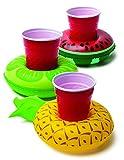Posavasos hinchables para piscina 03 piezas - Frutas tropicales