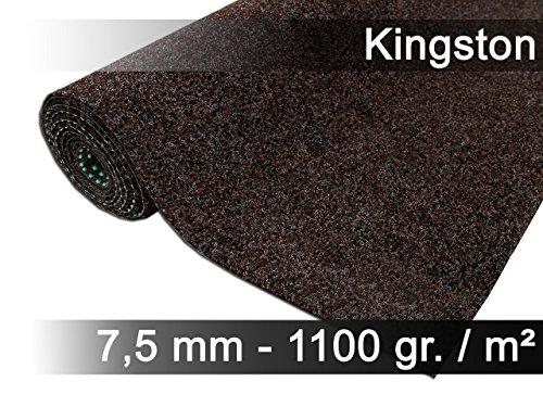 exteriortrend Komfort Kunstrasen Rasenteppich mit Noppen Kingston Braun in 19 Größen