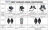 ObboMed® MF-2060 12V, 22W Elektrische Vibrationsmassage mit Karbon-Heizung Fußwärmer, aufheizbare Hausschuhe, Wärmehausschuhe, Fußheizer, Wärmeschuh, Heizschuhe, Hausschuhe, Fußsack, beheizbare Hausschuhe, Zehenwärmer, Massage, Vibration - 4