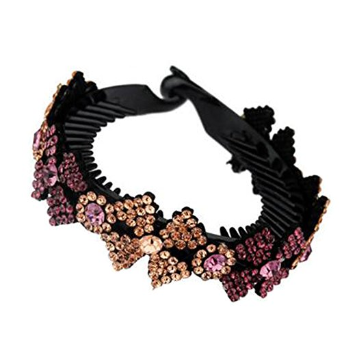 Mesdames Elegant Rhinestones Hair Bun Décor Ponytail Clip Hair Accessories, No.10