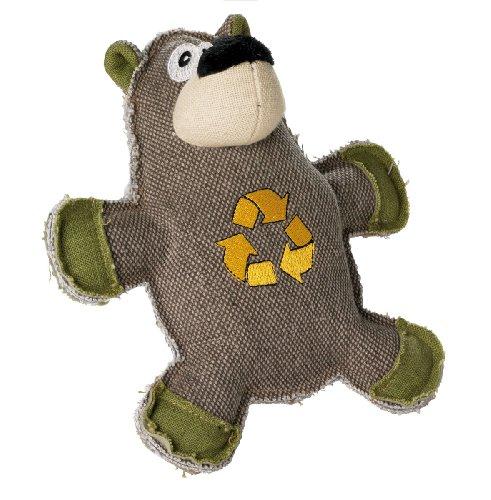 HUNTER CANVAS CYCLE BEAR Hundespielzeug, Vintage-Style, mit Baumwolle, Quietschspielzeug, Bär, 21 cm