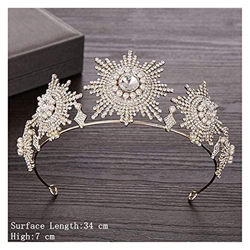 Accesorios for el cabello nupcial Rhinestone Crystal Tiara Crown Bodas Accesorios for el cabello Tiara de la corona de la corona de la boda de la boda de la corona de la boda de la boda del cristal de