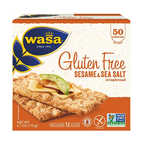 Wasa Gluten Free Sesame & Sea Salt Crispbread, 6.1 oz (Pack of 10)