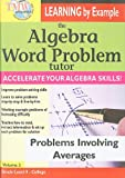 The Algebra Word Problem Tutor: Problems Involving Integers [USA] [DVD]